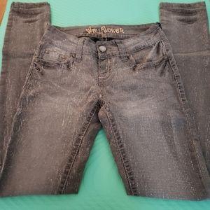 Sparkly Grey Skinny Jeans